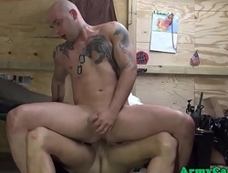 Army hunks smashing ass in orgy at the base