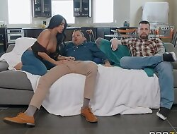 Tanned Asian girl fucks her hubby's collaborate right forwards of him